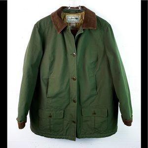 L.L. Bean barn coat jacket insulated green 1X